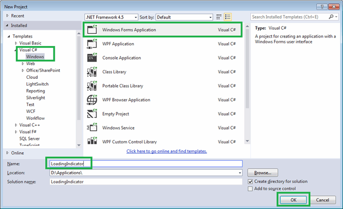 Display loading indicator in Windows Form application