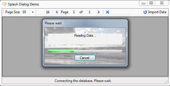 An universal Desktop Splash Dialog with Progressbar