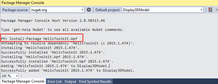 Display 3D Model using Window Presentation Foundation