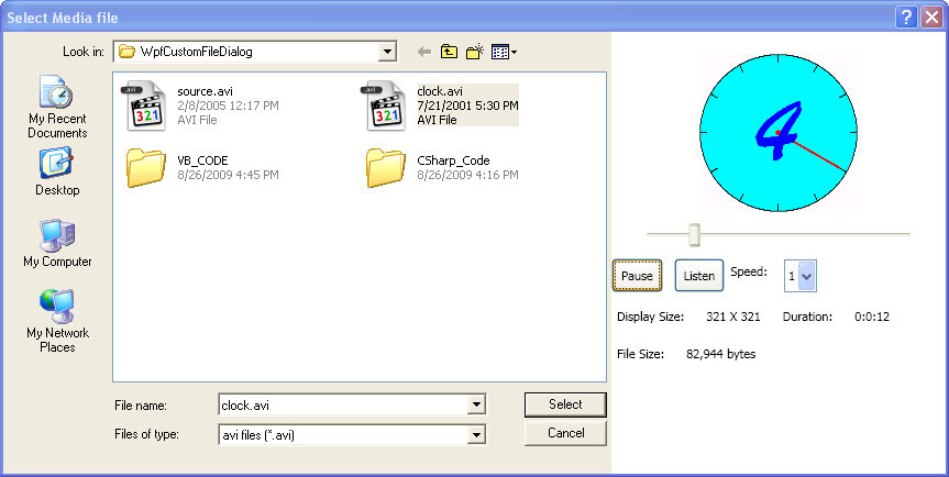 Extend OpenFileDialog and SaveFileDialog Using WPF - CodeProject