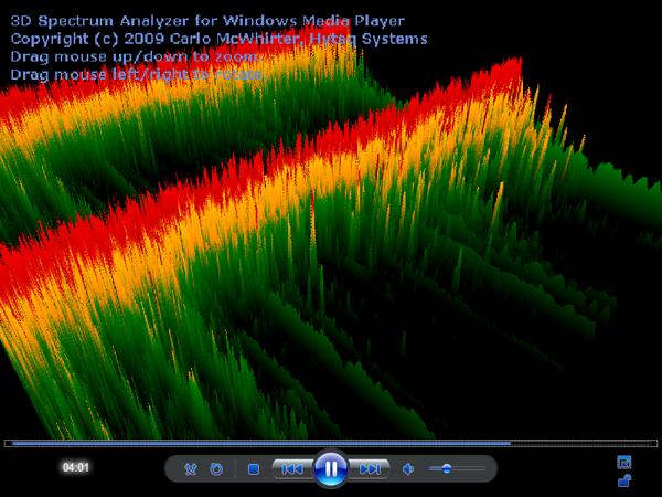 Interactive 3D Spectrum Analyzer Visualization for Windows