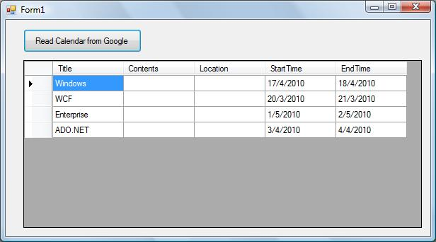 How to Read the Google Calendar in C# - CodeProject