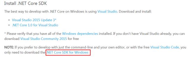 net core sdk download