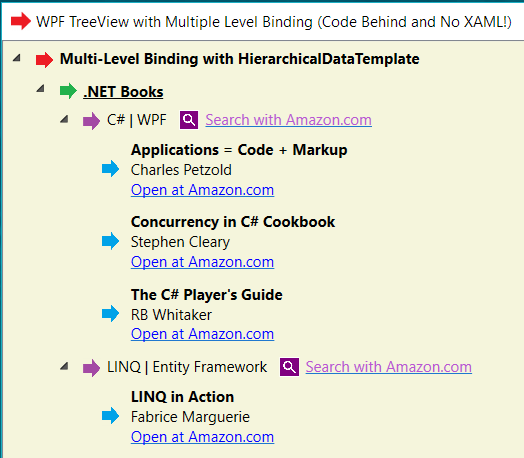 Advanced WPF TreeView With Multi-Level Binding (Code