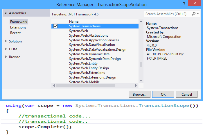All About TransactionScope - CodeProject