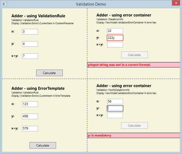 Validating user controls in view wpf