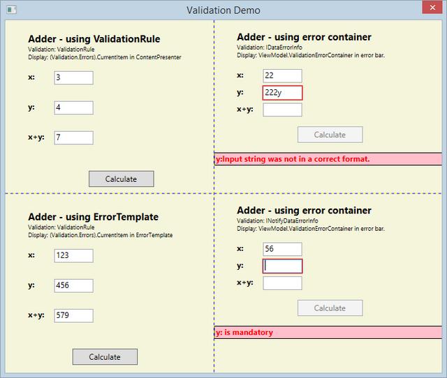 Validating user input wpf