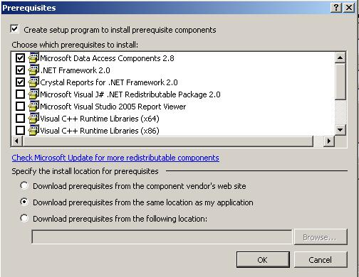How to add prerequisites in visual studio .net 2005 setup - CodeProject