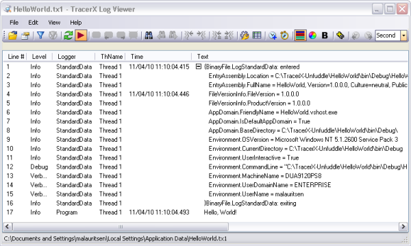 TracerX Logger and Viewer for  NET - CodeProject