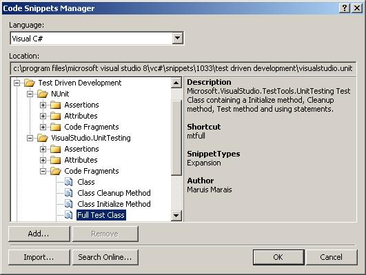 Visual Studio 2005 Code Snippets