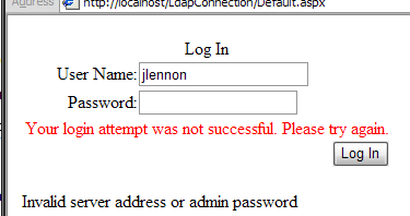 eDirectory Authentication using LdapConnection and custom