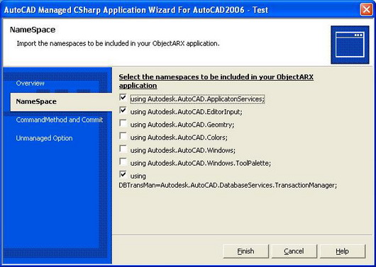 New AutoCAD Managed C# Project Application Wizard - CodeProject
