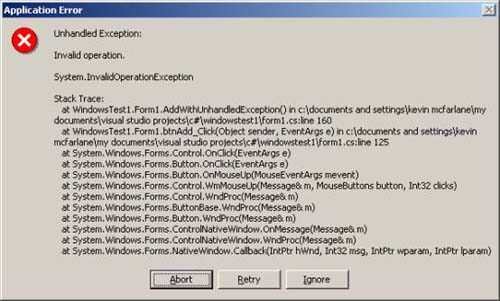 Managing Unhandled Exceptions in .NET - CodeProject