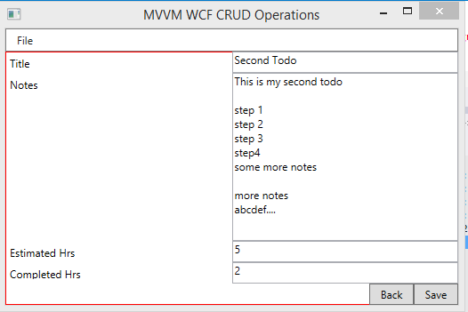 Validating user input wpf mvvm crud