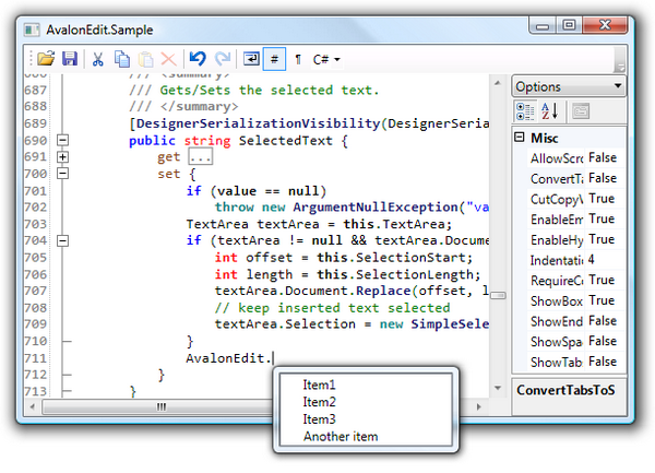 Using AvalonEdit (WPF Text Editor) - CodeProject