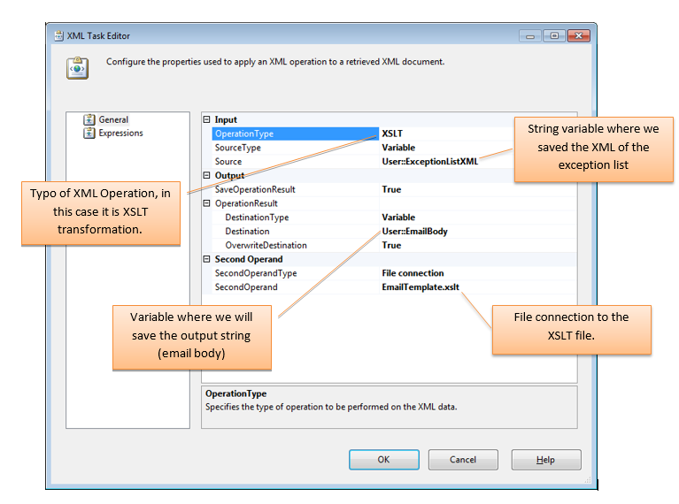 Error Summary Email with XSLT and XML in a SSIS Package