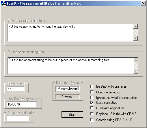 The ScanR Dialog