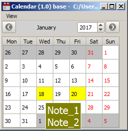 calendar calendar with notes using the qt framework codeproject