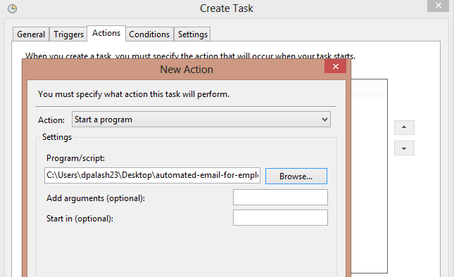Step 5 : We are done here . You can check the task by right clicking ...