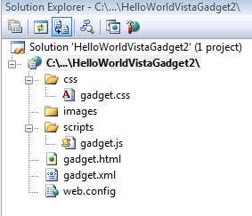 Vista Gadget Project Structure