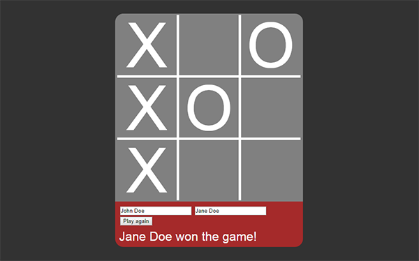 Two Player TicTacToe 2D Game using jQuery - CodeProject
