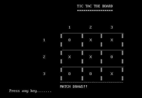 TIC-TAC-TOE Game Development using TurboC Graphics - CodeProject