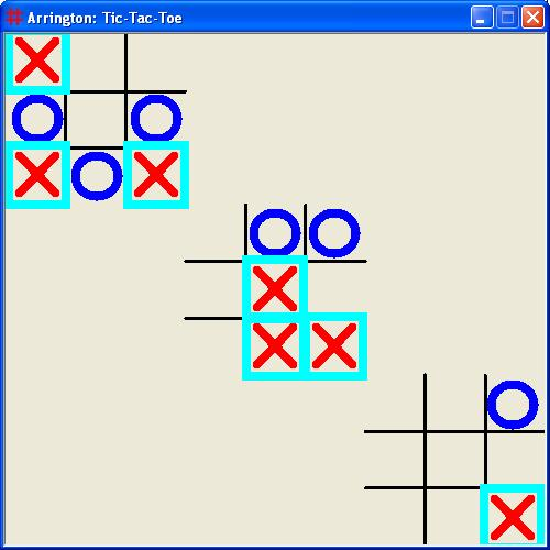 A simple Visual Basic Version of Tic Tac Toe in 2 and 3