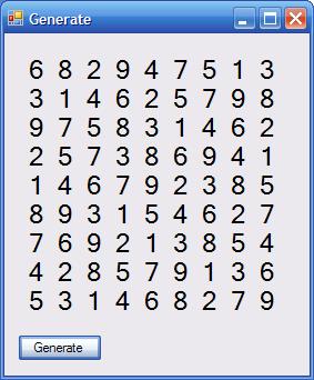 Sudoku Algorithm: Generates a Valid Sudoku in 0 018 seconds
