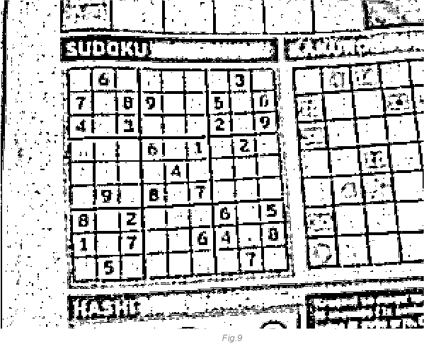 realtime webcam sudoku solver codeproject Blue Green Neon Grid in most cases a sudoku grid printed in a magazine or newspaper is never alone there are other grids and lines around it that makes the noise