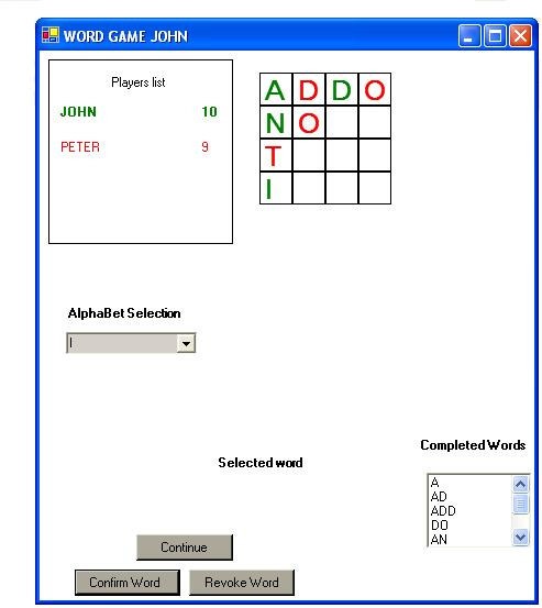 Word Building Network Game With Intelligence - CodeProject