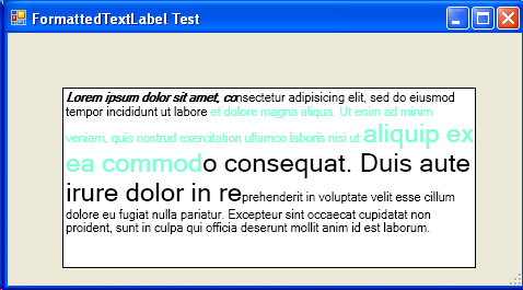 Drawing Formatted Text in a Windows Forms Application using