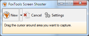 The window of screen capture