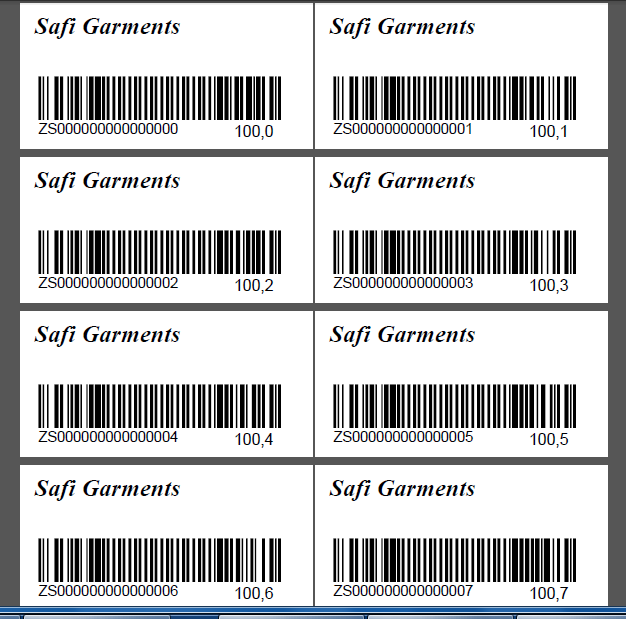 Generating Barcode for a Sale/Purchase System Using