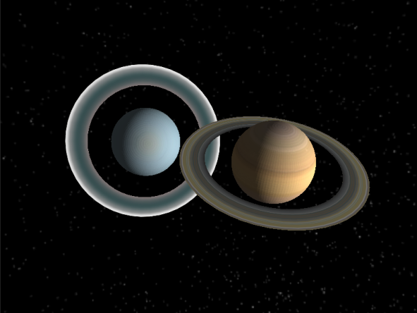 Step 4 Result - Rings of Saturn and Uranus