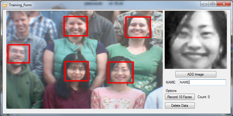 EMGU Multiple Face Recognition using PCA and Parallel Optimisation