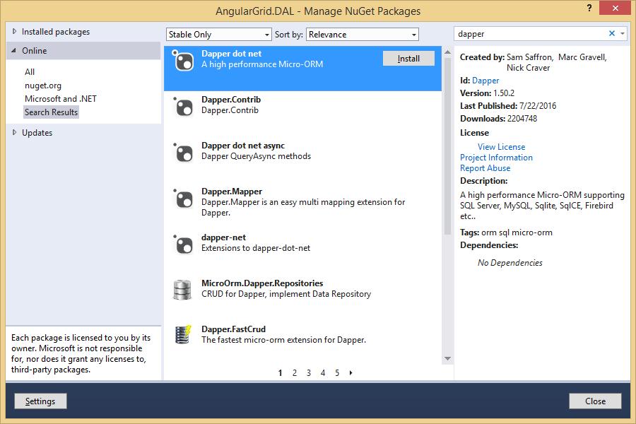 AngularGrid with ASP NET Web API - CodeProject