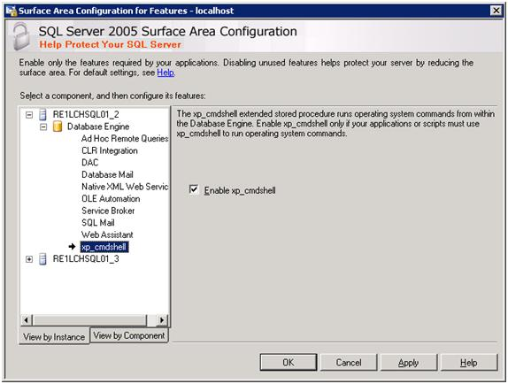 You have Enable xp_cmdshell from the Surface Area Configuration to run the above command