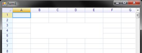 شبكة البيانات Spreadsheet Control التى تحتوي على جميع وظائف ملف Excel. 22_2