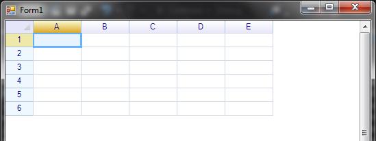 شبكة البيانات Spreadsheet Control التى تحتوي على جميع وظائف ملف Excel. 23