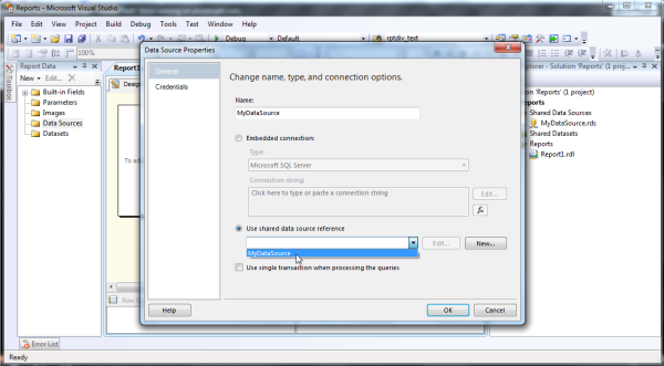 SSRS – How to Create a Data Source? - CodeProject