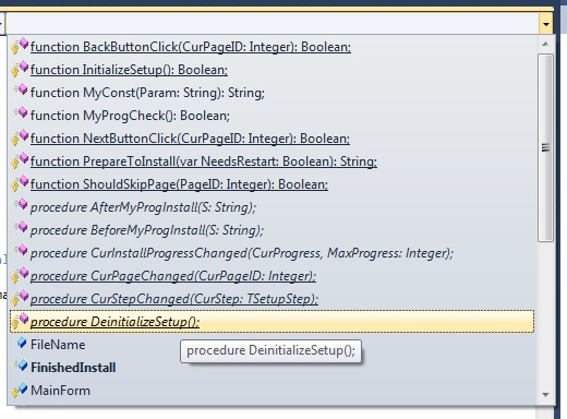 Creating an Installer in Visual Studio and Inno Setup
