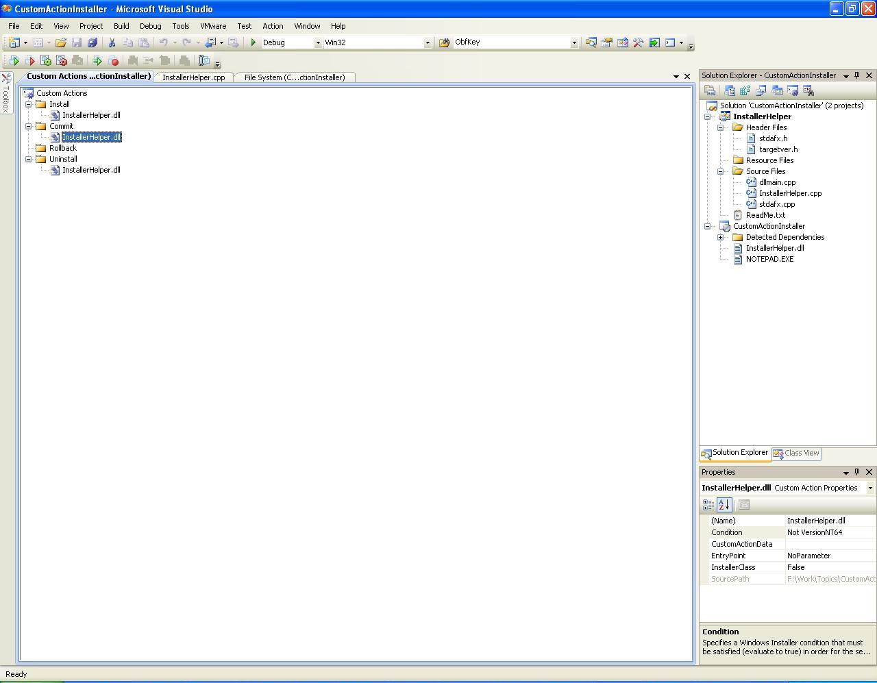 Custom Action in Visual Studio setup projects - CodeProject