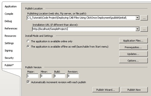Deploying CAB Files Using ClickOnce Deployment - CodeProject