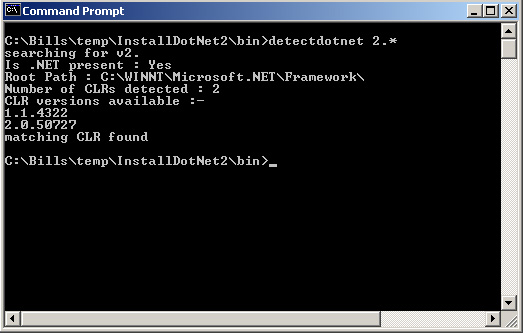 Installing  NET Framework 2 0 Applications with