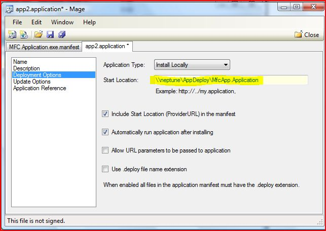 Deploying MFC applications via ClickOnce - CodeProject