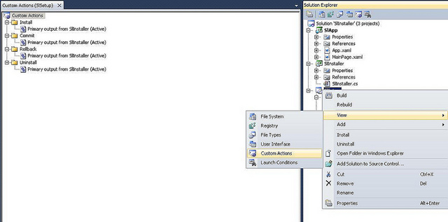 Installing Silverlight OOB Application using a Setup Project