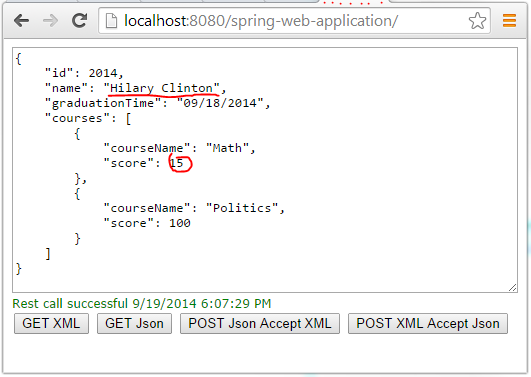 Support Both Json and XML Serializations in Spring MVC