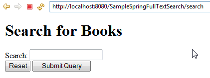 Integrating Full Text Search to Spring MVC with Hibernate