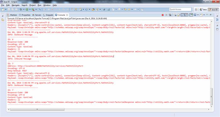 JAX-WS: Using Apache CXF to Create a Bottom-Up Web Service