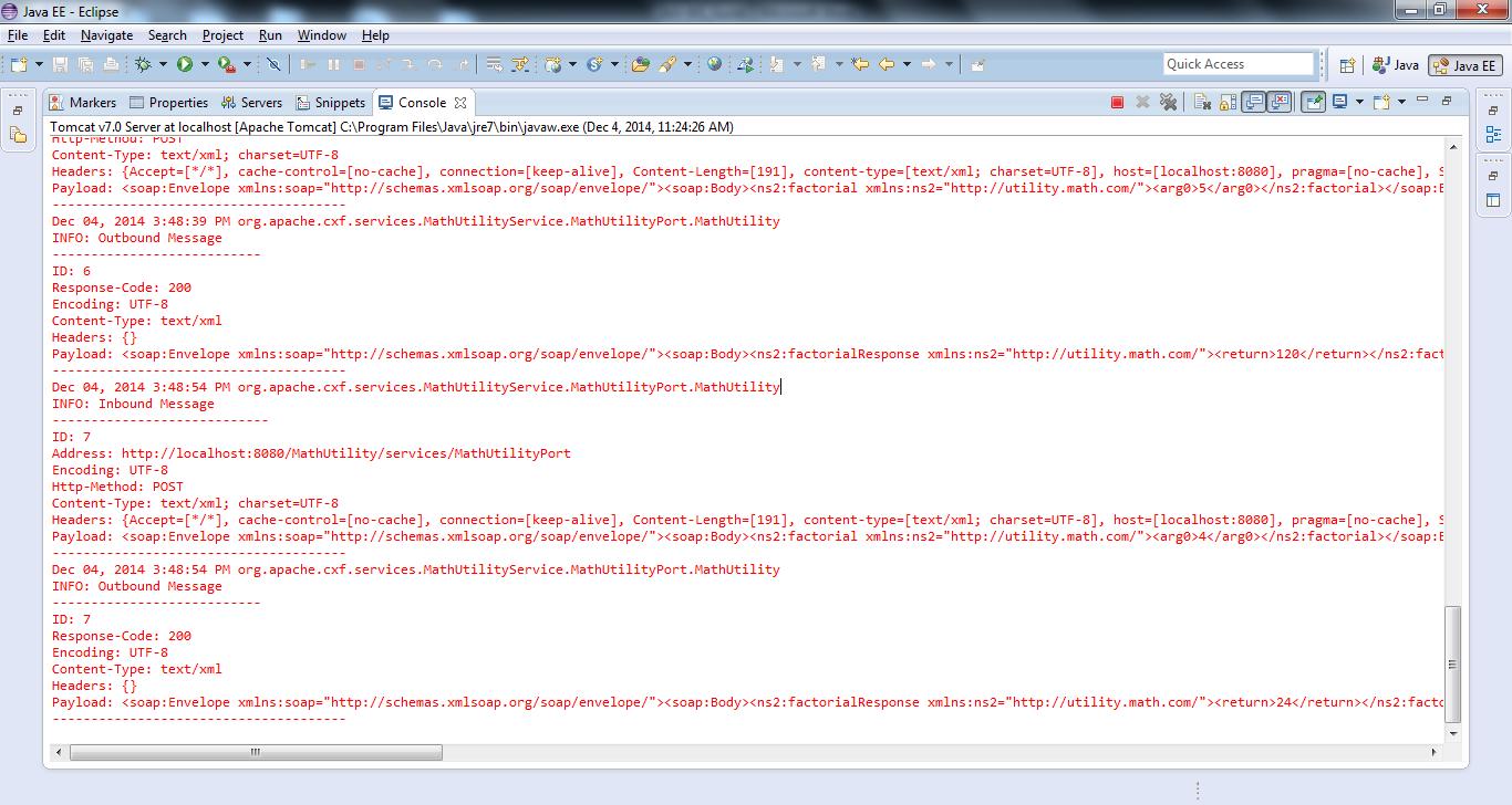 JAX-WS: Using Apache CXF to Create a Bottom-Up Web Service, Web